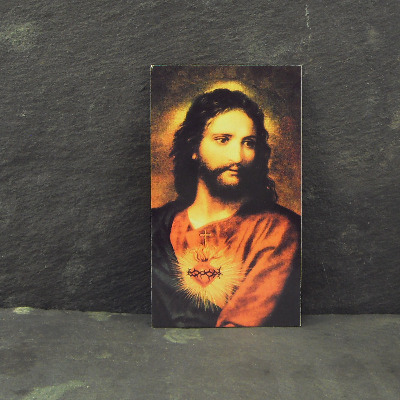 Catholic prayer card Sacred Heart of Jesus