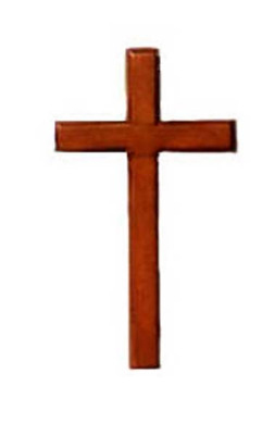 10cm Christian wooden hanging cross