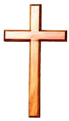 100cm wooden mahogany large wall hanging cross