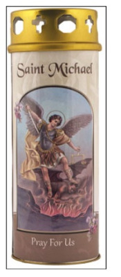 St. Michael candle 68 hour burn Prayer