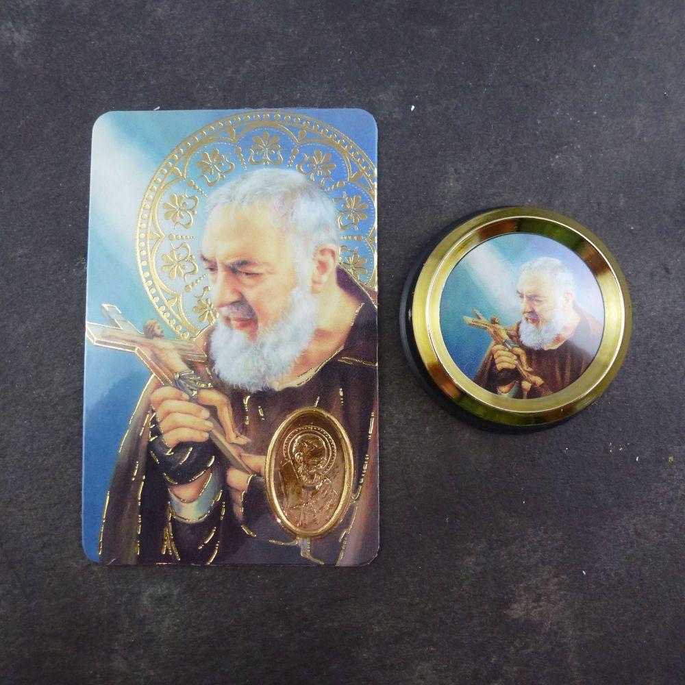Catholic St. Padre Pio car plaque gift magnet