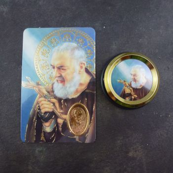 Catholic St. Padre Pio car plaque gift magnet
