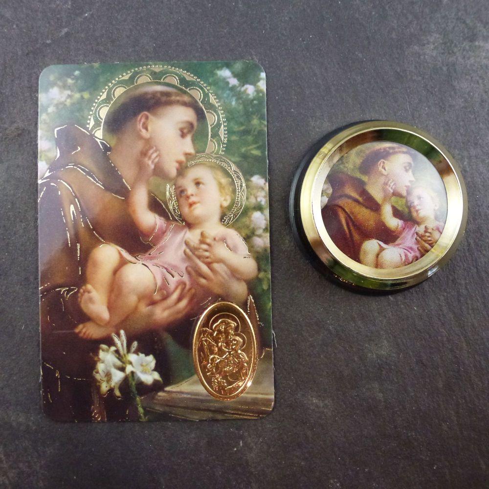 Catholic St. Anthony car plaque gift magnet