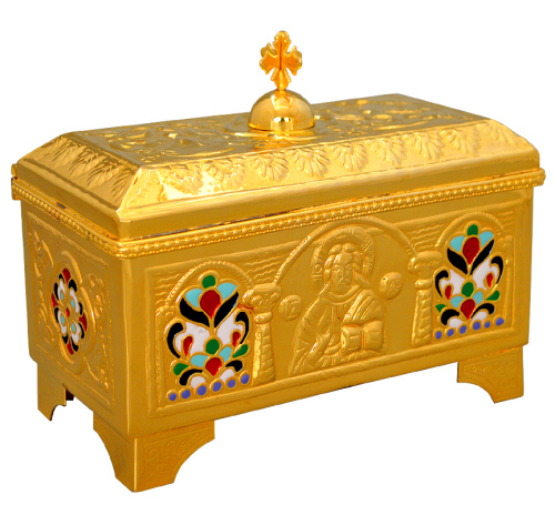 Catholic church holy bread box high quality polished brass 6