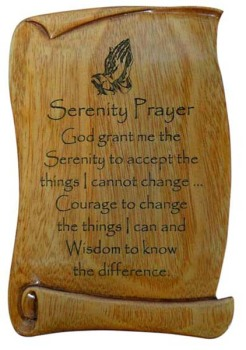 Christian Serenity Prayer verse scroll plaque 15cm