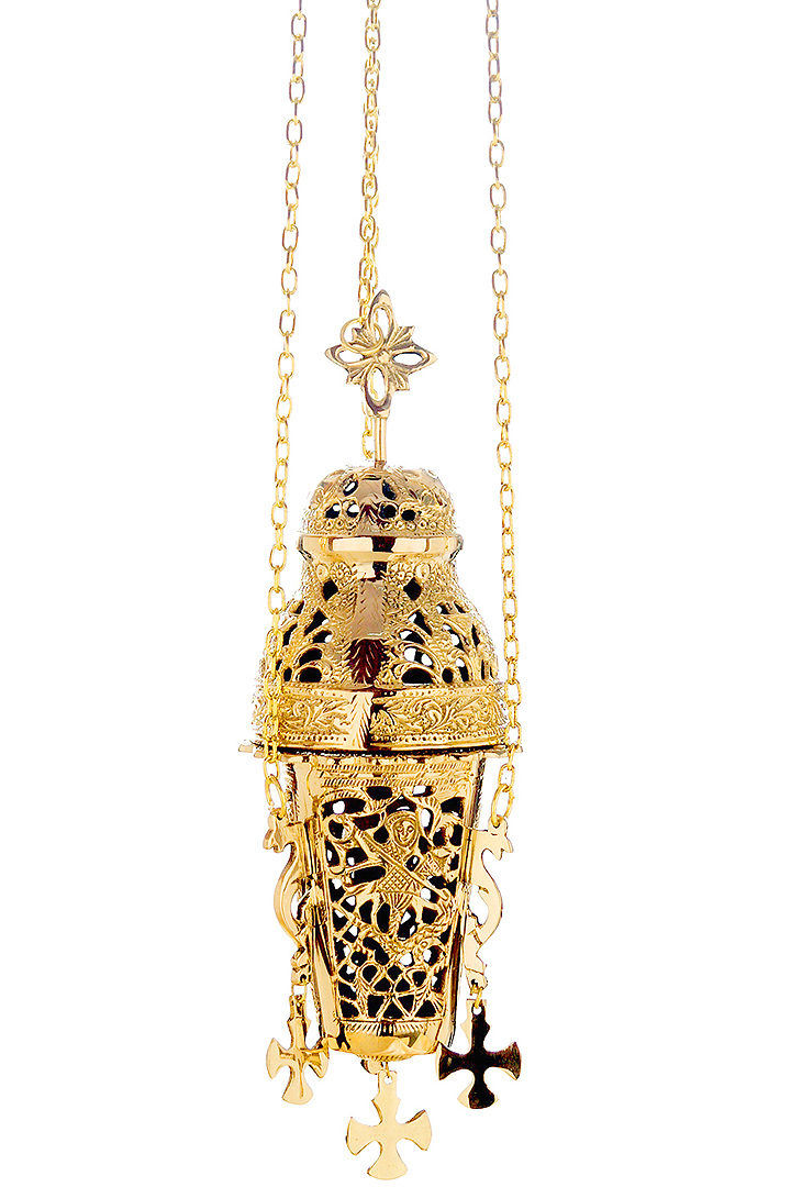 Catholic church censer chains incense burner thurible polished brass
