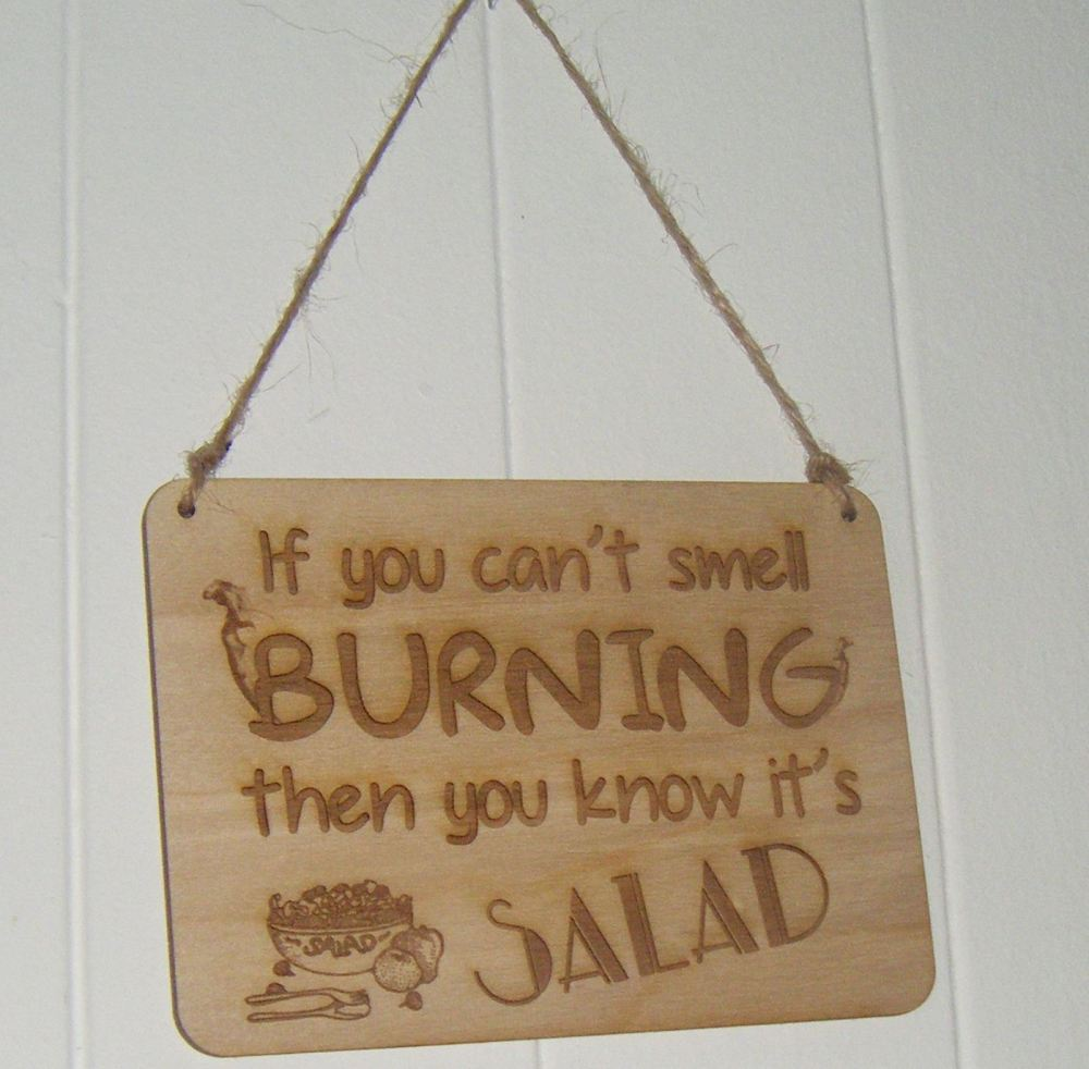 Smell burning wooden plaque