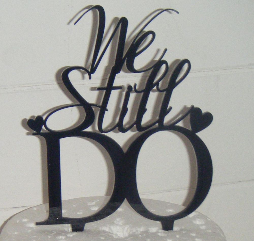 We still do Acrylic Cake Topper  with Hearts