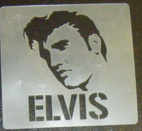 Elvis Head and name Stencil