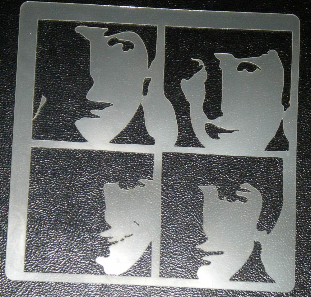 Beatles Fab Four Stencil