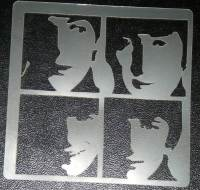 Beatles Fab Four Cake or Craft Stencil