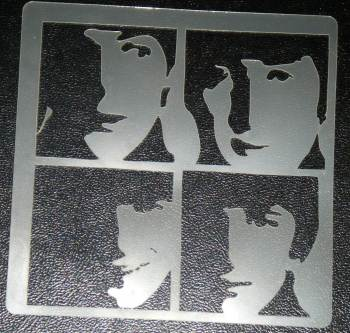 Beatles Fab Four Stencil