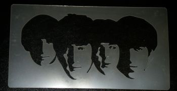 Beatles Faces Stencil