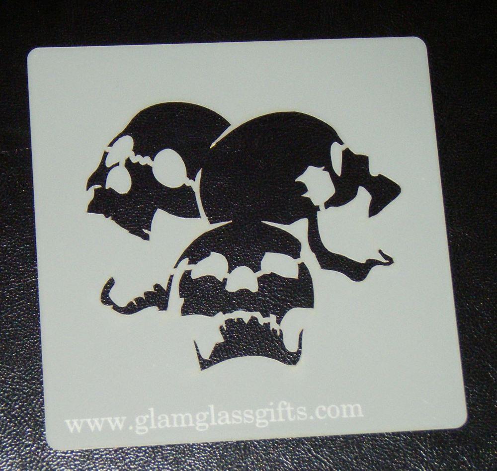 Skulls Stencil