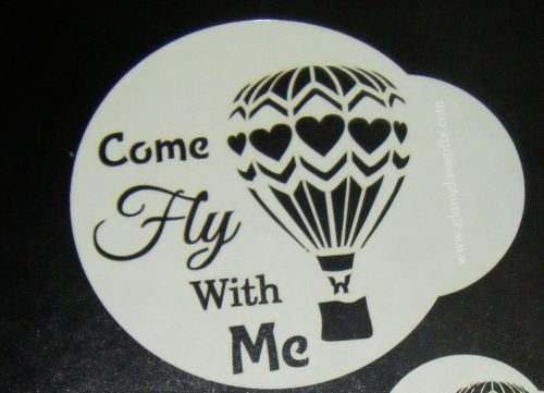 Balloon Come fly with me Stencil