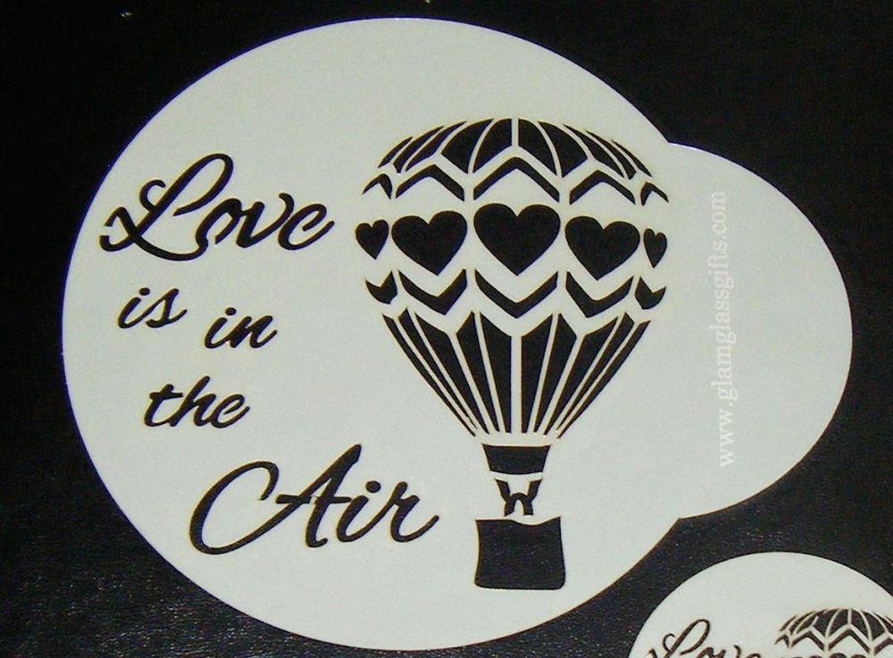Balloon Love Is In The Air Stencil