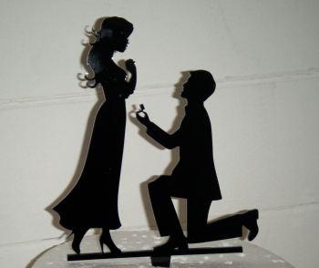 Proposal Silhouette Cake Topper  1