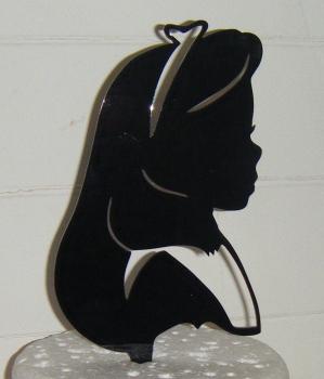 Wonderland Alice Silhouette Cake Topper