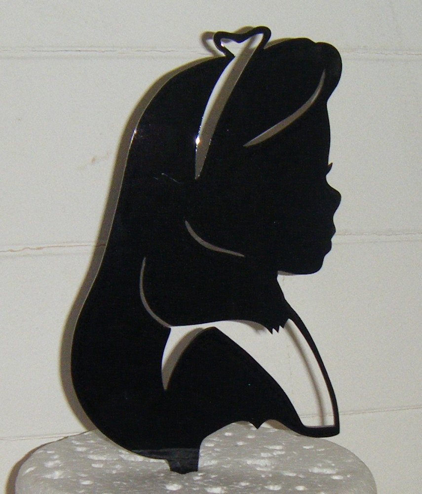 Alice Silhouette Acrylic Cake Topper