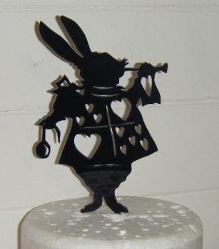 Rabbit Silhouette Cake Topper