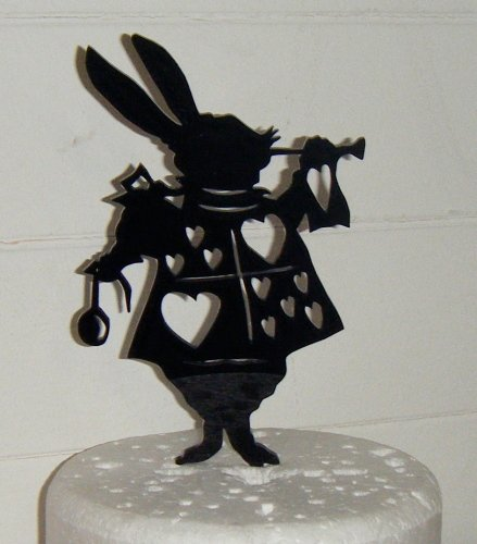 Rabbit Silhouette Acrylic Cake Topper