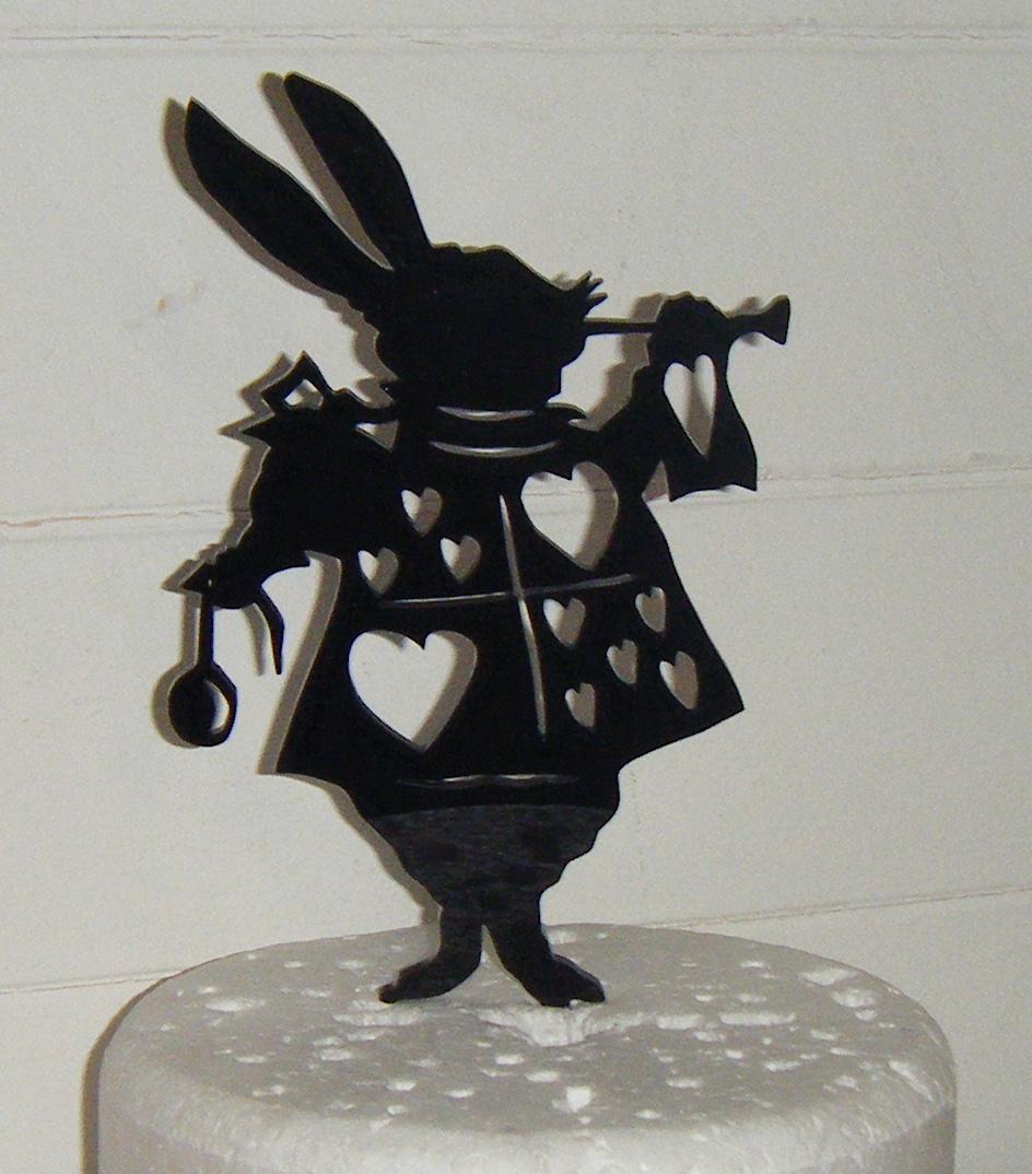 Rabbit Silhouette Acrylic Cake Topper