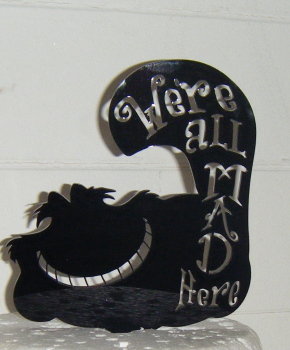 We're all mad here Cheshire Cat Silhouette Cake Topper