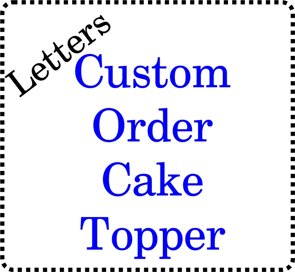 Personalised Acrylic Cake Topper Initials Letters Wedding Cakes
