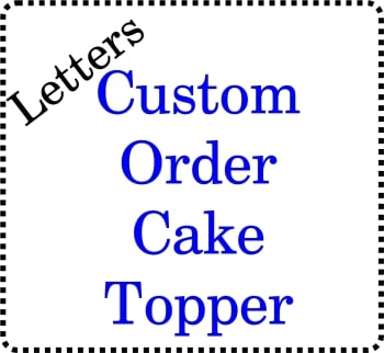 ......Bespoke personalised Acrylic Cake Topper Initials Letters Wedding Cakes