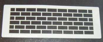 Graffiti Wall Uniform Bricks Stencil