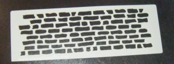 Grafitti Wall Bricks Cake decorating stencil Airbrush Mylar Polyester Film