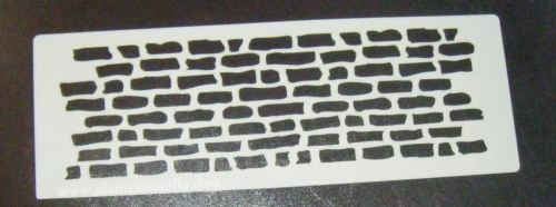 Grafitti Wall Bricks Cake decorating stencil set Airbrush Mylar Polyester F