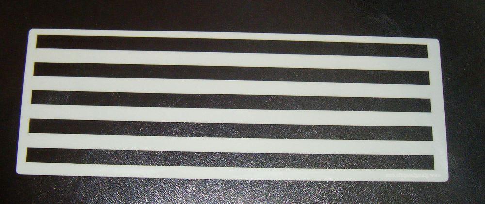 1cm Stripes Pattern Cake decorating stencil set Airbrush Mylar Polyester Fi