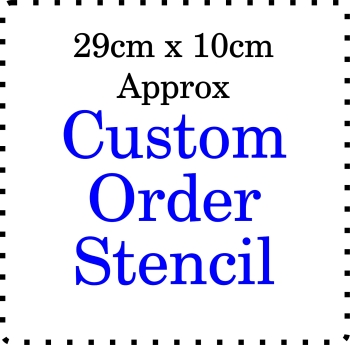 Custom order Cake Bespoke Stencil Large 4 inch deep 11.5 inch long