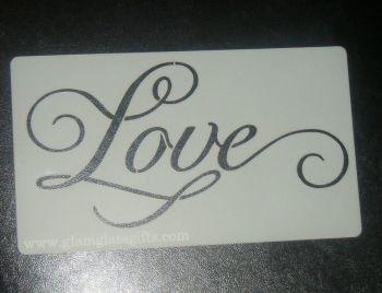 Love word Cake, Craft Airbrush Stencil