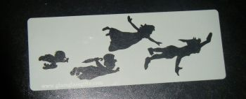 Peter Pan , Wendy, Kids Flying Cake, Craft, Airbrush Stencil