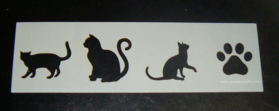 Cat Cake, Craft, Airbrush Stencil