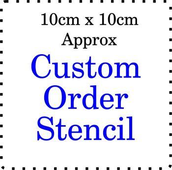 Custom order Cake Bespoke Stencil 4 Inch size