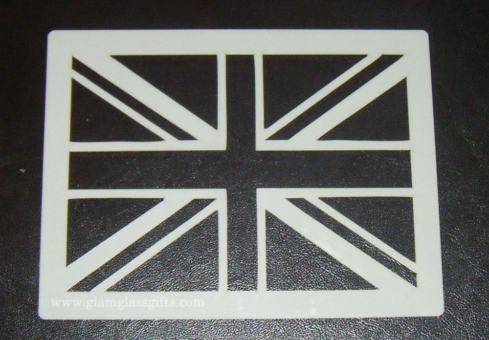 Union Jack cake, craft, airbrush Stencil