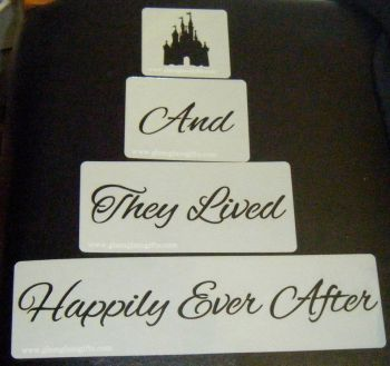 And They Lived Happily Ever After with Castle Cake Stencil