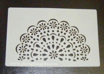 Doily design cake airbrush craft Stencil
