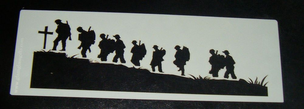 Rememberance Soldiers Cake decorating stencil set Airbrush Mylar Polyester