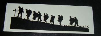 Remembrance Soldiers Cake decorating stencil  Airbrush Mylar Polyester Film