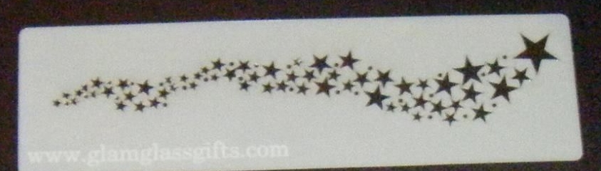Star Sprinkle Pattern Cake decorating stencil set Airbrush Mylar Polyester