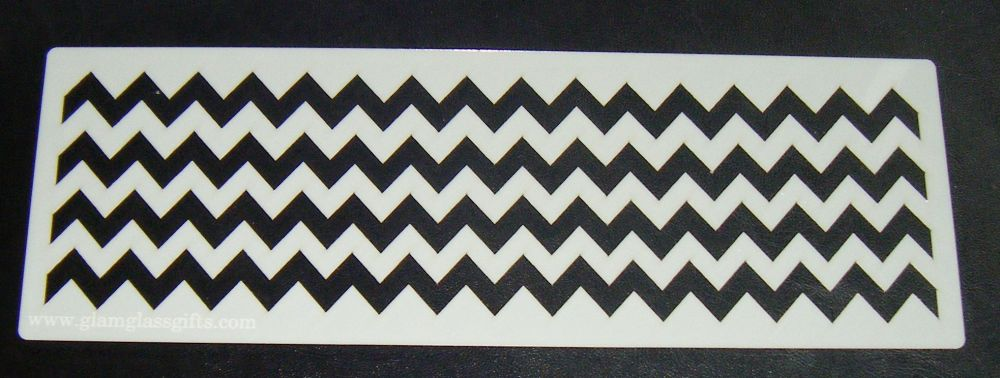 Chevron Stripes Pattern Cake decorating stencil set Airbrush Mylar Polyeste