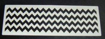 Chevron Stripes Pattern Cake decorating stencil set Airbrush Mylar Polyester Film