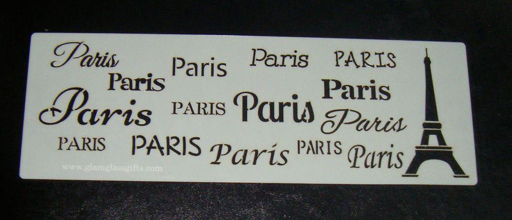 Paris Eiffel Tower Pattern Cake decorating stencil set Airbrush Mylar Polye