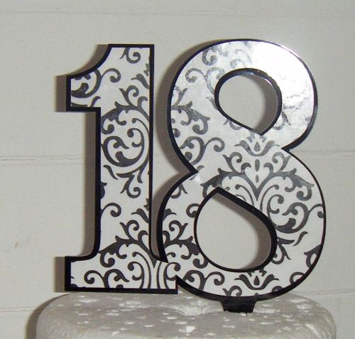 Printed Pattern acrylic Topper Custom made