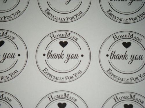A4 Sheet of Round Thank You HomeMade
