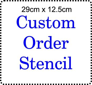 Custom order Cake Bespoke Stencil Large 5 inch deep 11.5inches long